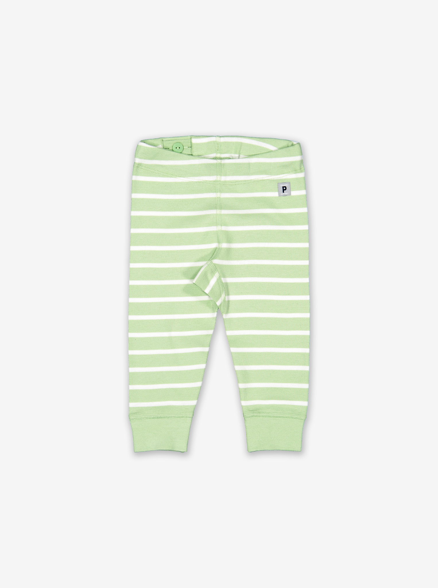 Striped Baby Leggings-Unisex-0-1y-Green