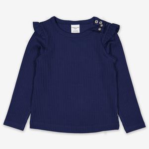 Ribbed Kids Top-Girl-1-12y-Blue