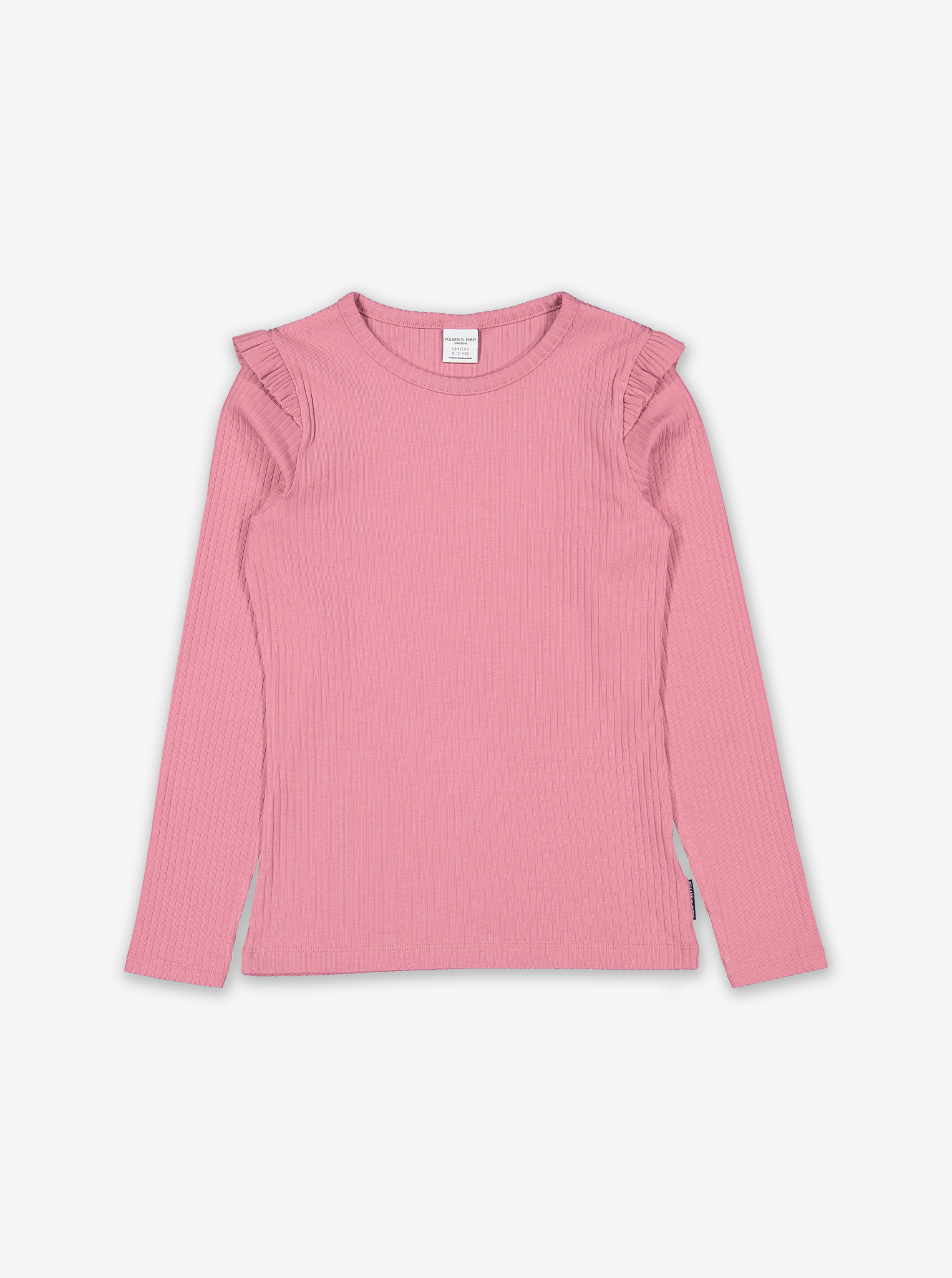 Ribbed Kids Top-Girl-1-12y-Pink