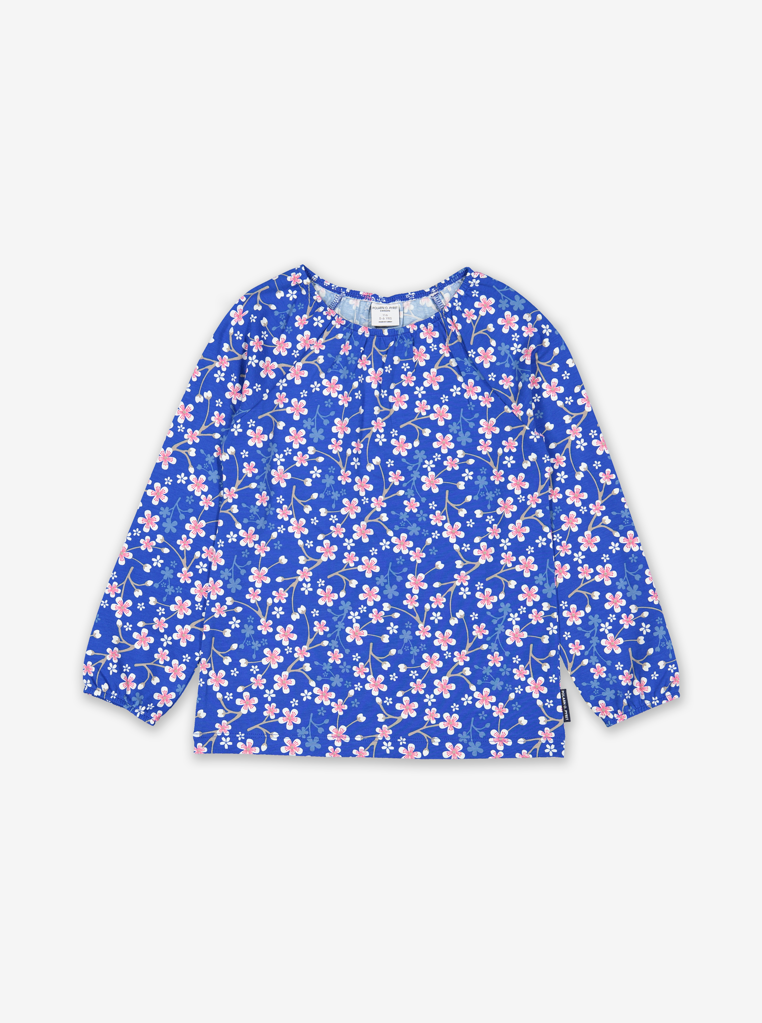 Blossom Print Kids Top-Girl-1-6y-Blue