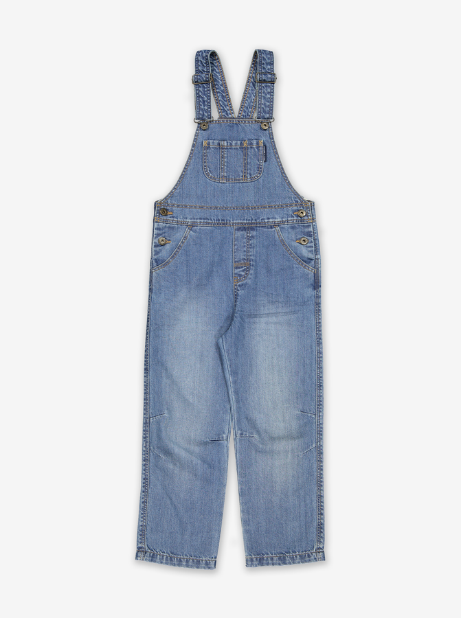 Kids Denim Dungarees-Unisex-1-6y-Blue