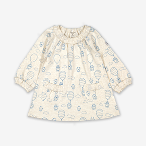 Balloon Print Baby Dress-Girl-0-1y-White