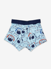 Boxer Shorts With Monster Print-Boy-1-12y-Blue