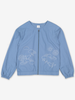 Embroidered Kids Utility Jacket-Girl-6-12y-Blue