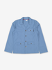Organic Cotton Kids Utility Jacket-Boy-6-12y-Blue