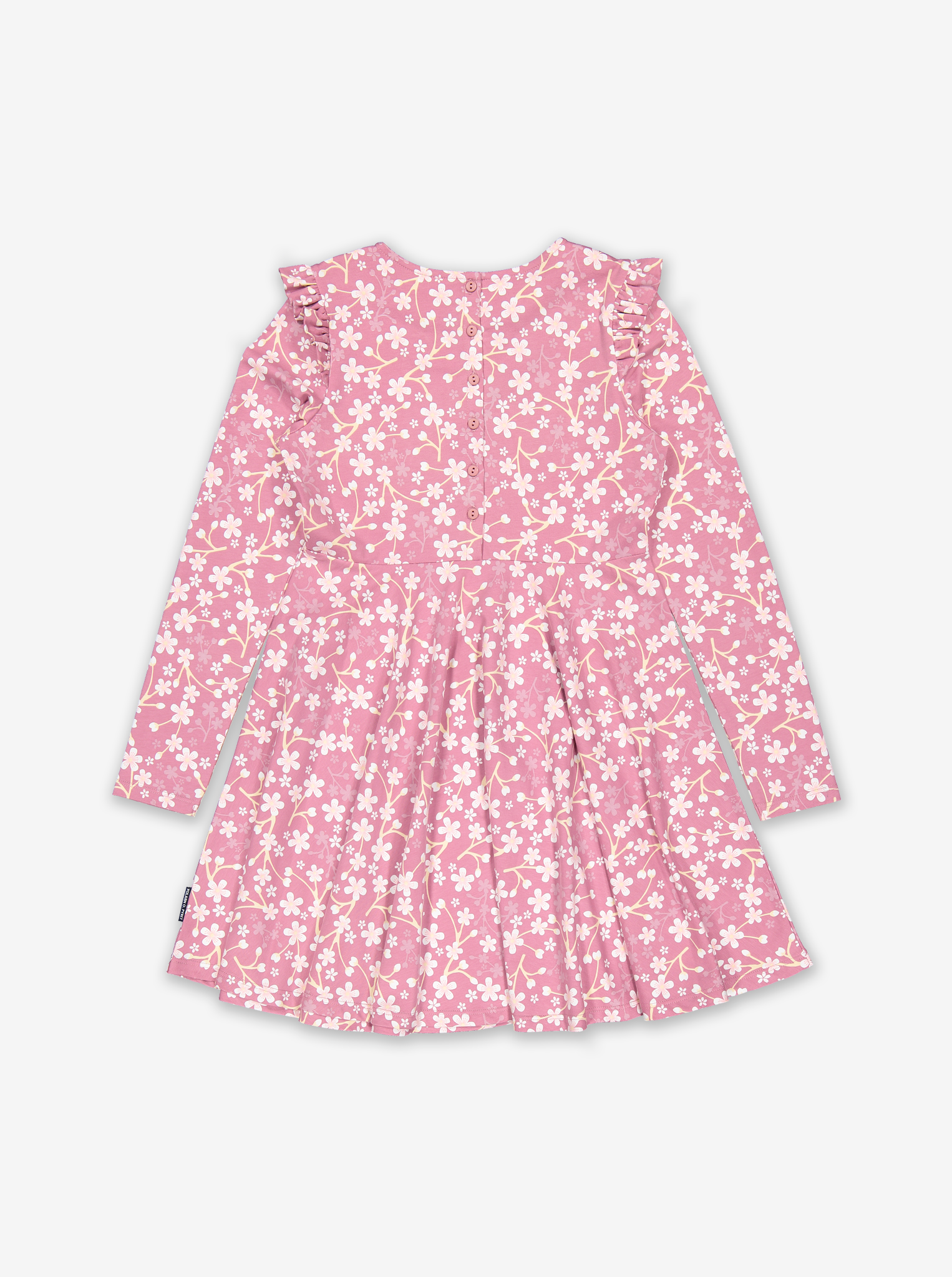 Blossom Print Kids Dress-Girl-6-12y-Pink