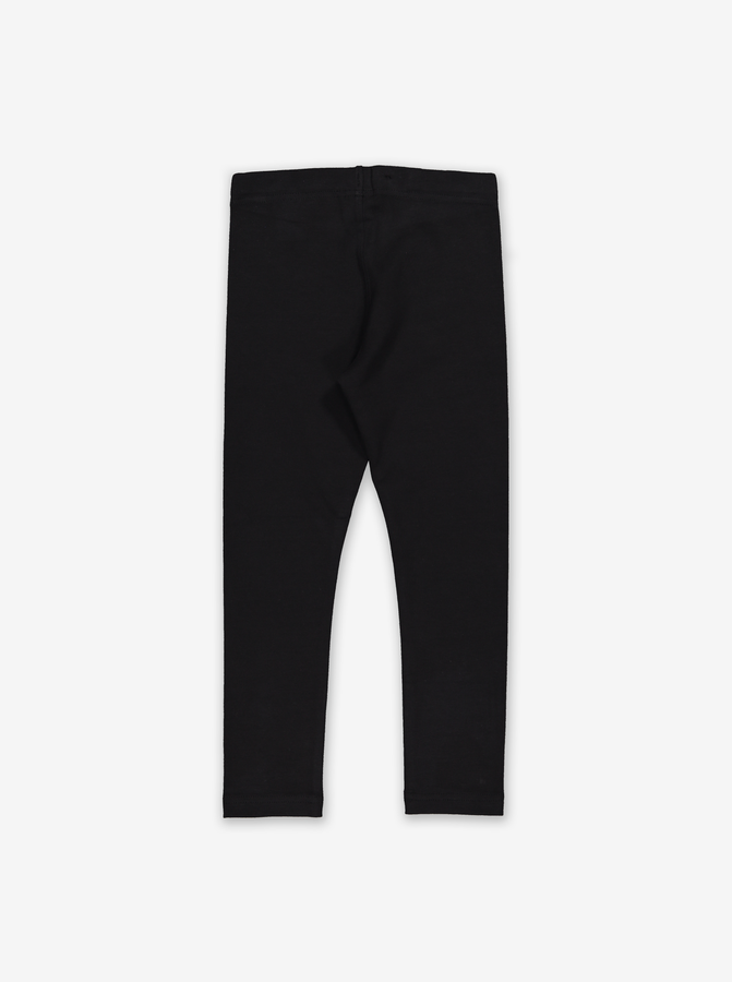 Organic Kids Leggings-Unisex-1-6y-Black