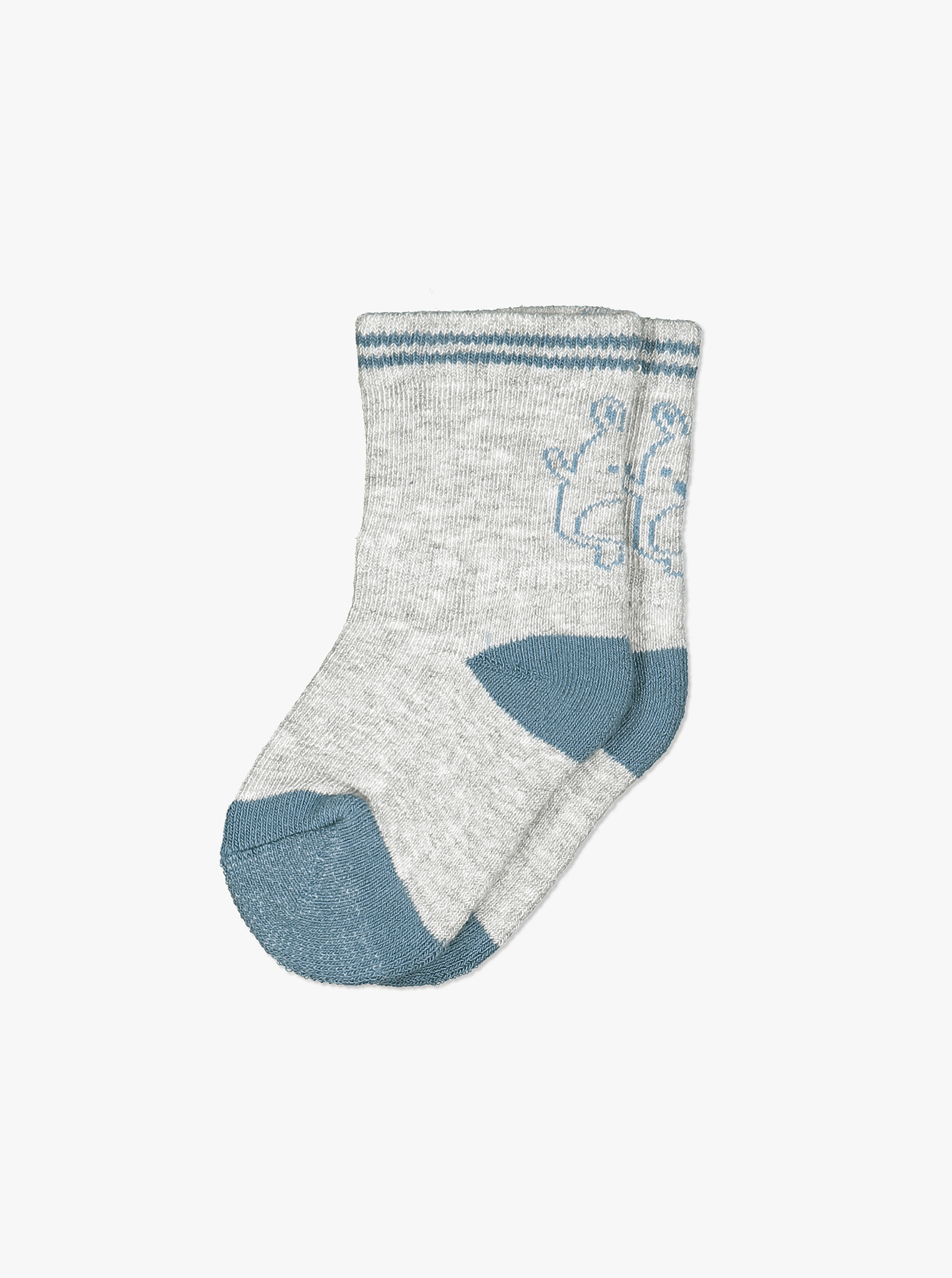 Bear Print Baby Socks-Boy-0-9m-Blue