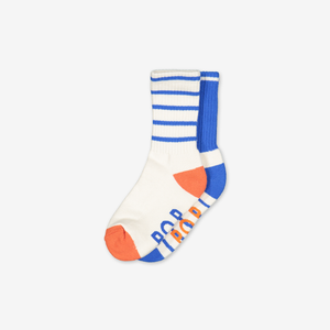 2 Pack Kids Sports Socks-Boy-2-12y-White