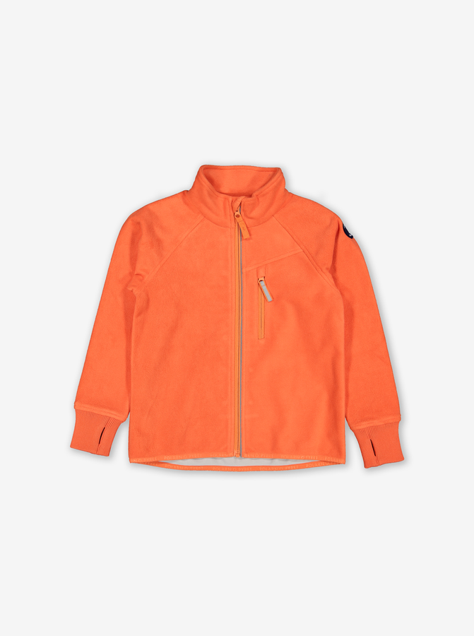 Kids Windproof Fleece Jacket-Unisex-Orange-1-6y