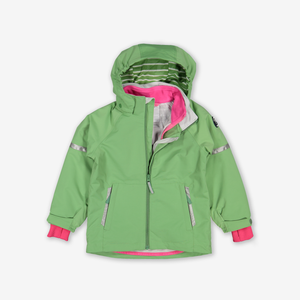 Waterproof Kids Shell Jacket-Unisex-Green-9m-12y