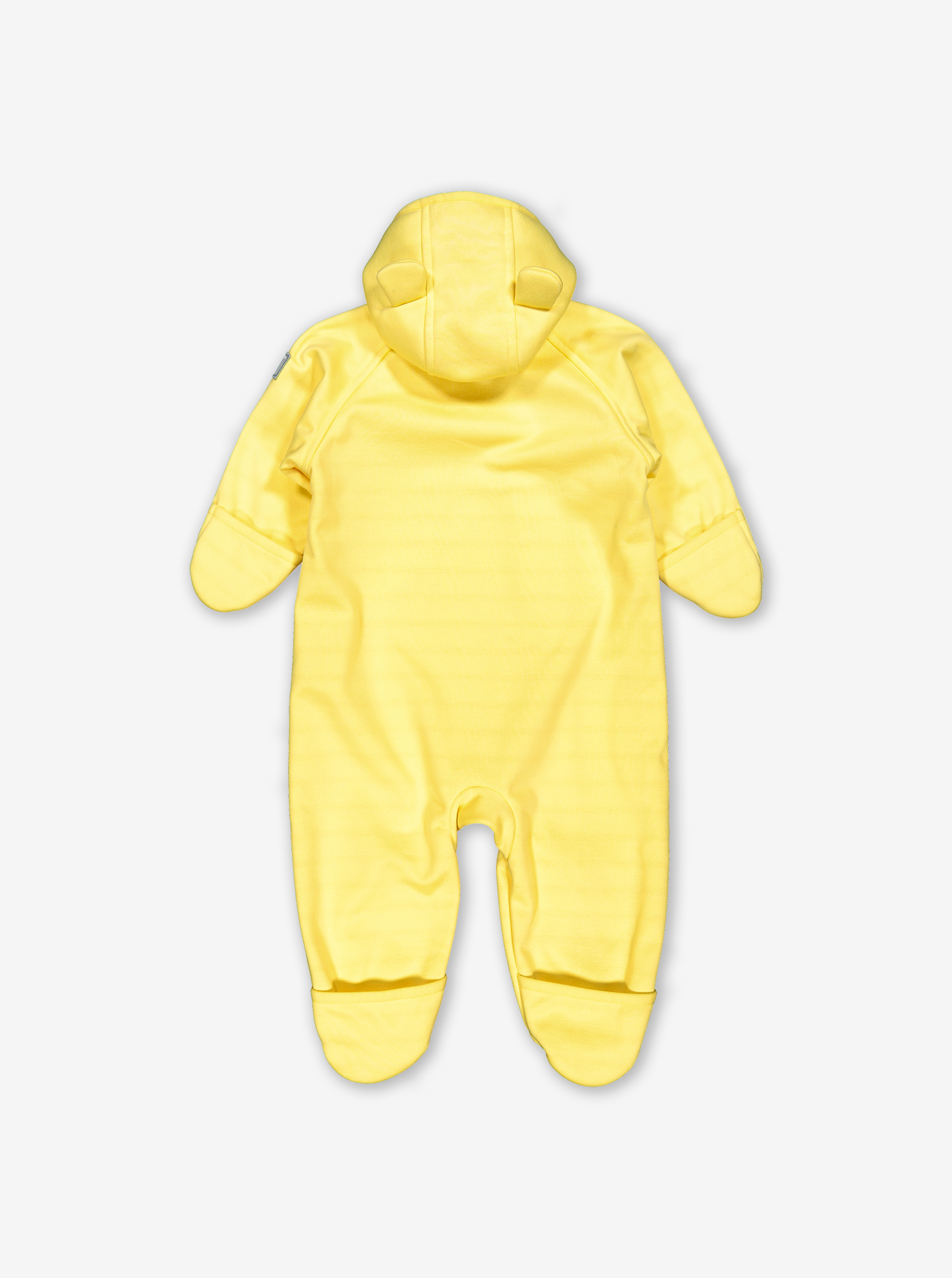 Soft Shell Windproof Baby Pramsuit-Unisex-Yellow-0-1y