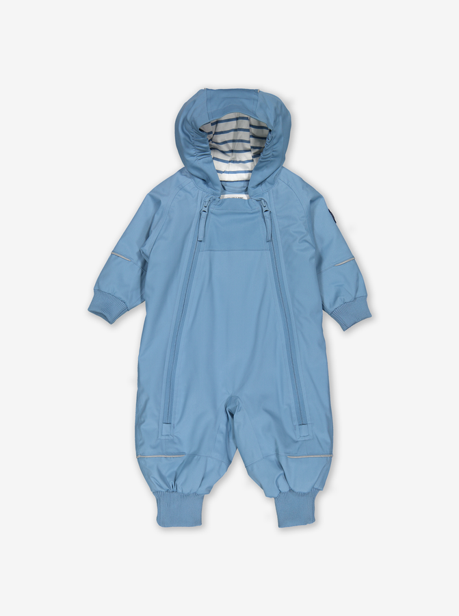 Waterproof Lightly Padded Baby Overall-Boy-Blue-4-12m