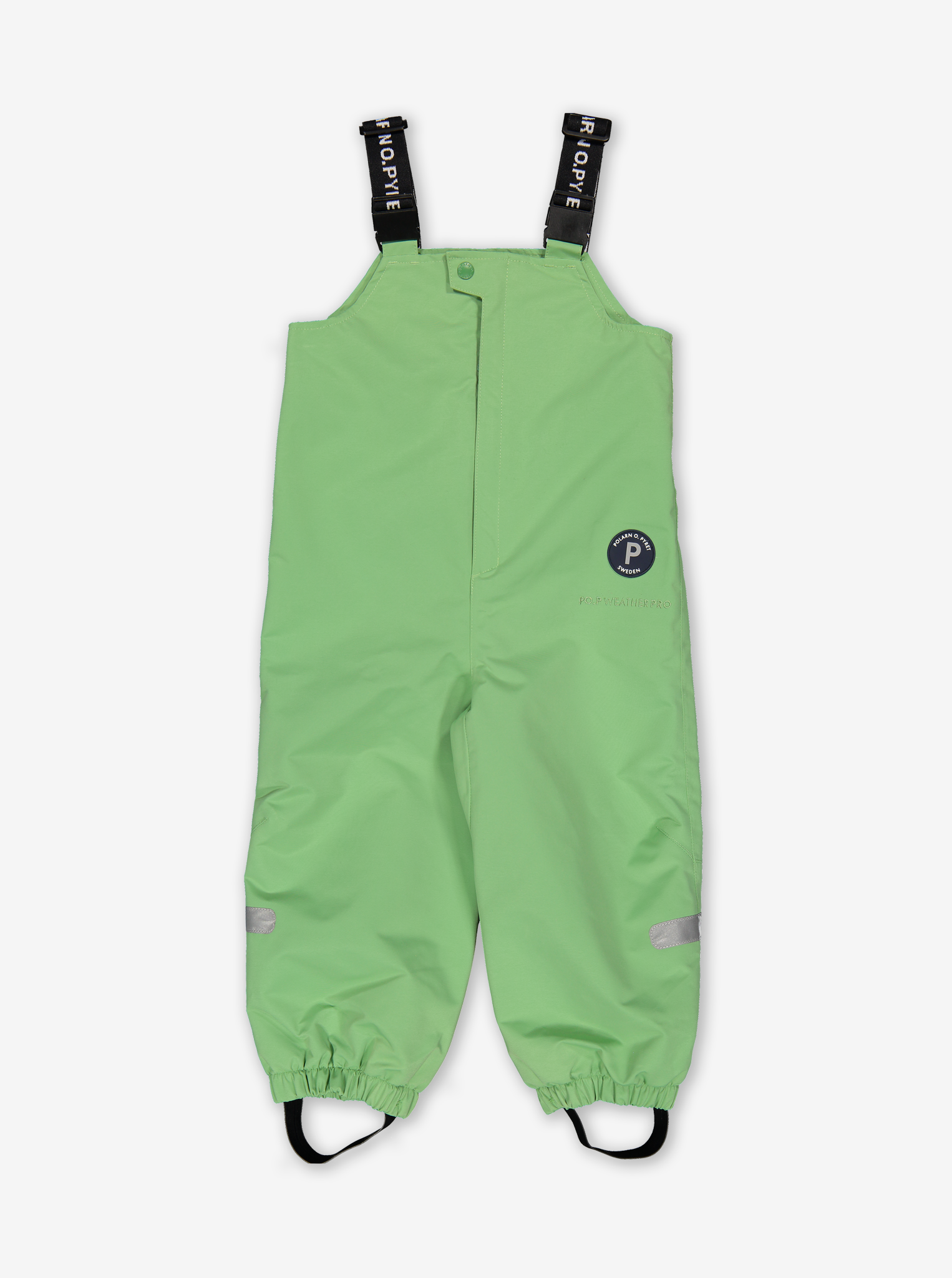 Waterproof Shell Baby Dungarees-Unisex-Green-6m-2y
