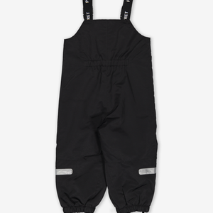 Waterproof Shell Baby & Kids Dungarees-Unisex-Black-6m-6y