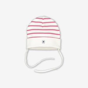 Striped Baby Hat-Girl-Pink-1-9m