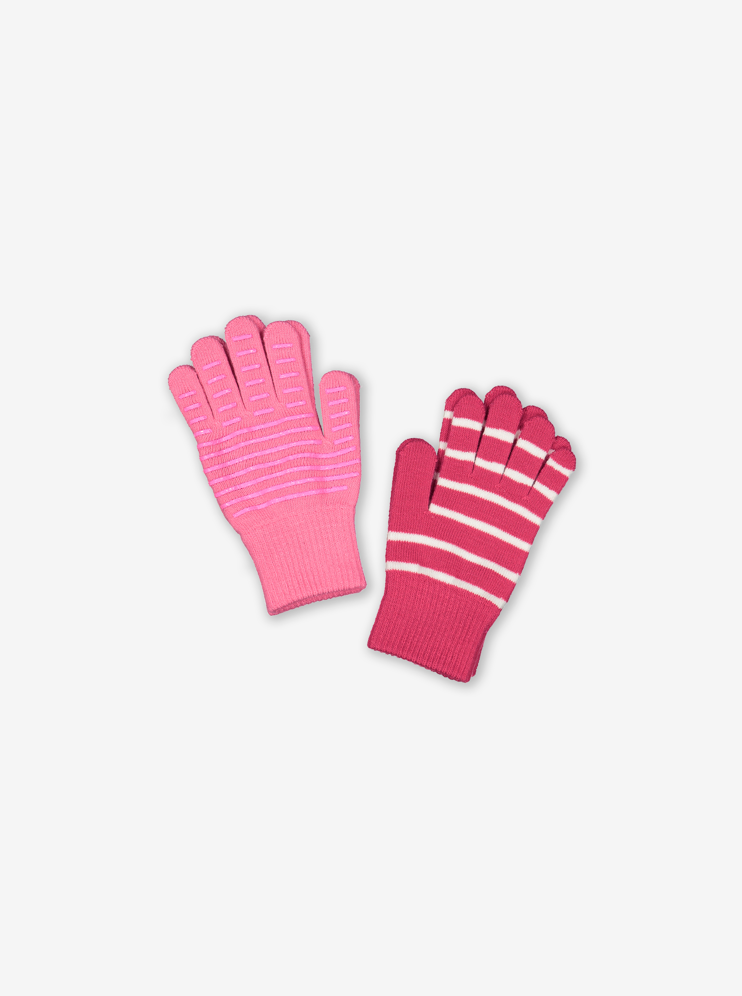 Two Pack Magic Kids Gloves-Girl-Purple-4-12y