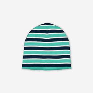 Reversible Kids Beanie Hat-Unisex-Green-9m-12y