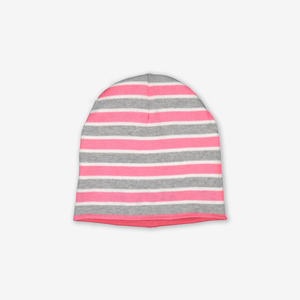 Reversible Kids Beanie Hat-Girl-Pink-9m-12y