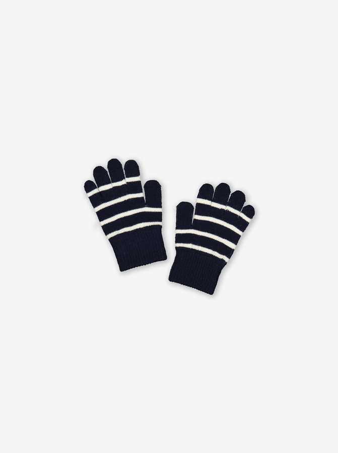 Wool Magic Kids Gloves-Unisex-Blue-6m-12y
