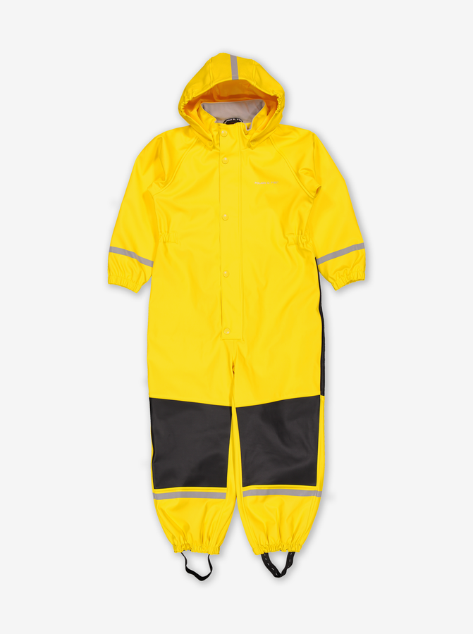 Waterproof Kids Rain Suit-Unisex-Yellow-1-6y