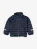 Water Resistant Kids Puffer Jacket-Unisex-Blue-1-12y