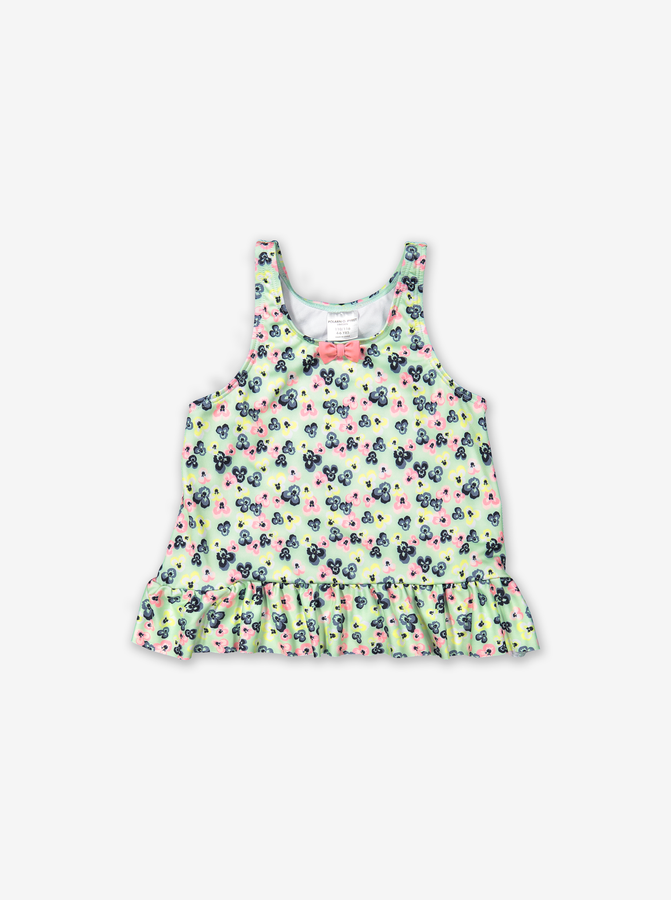 Tankini with floral print-Girl-6m-4y-Green