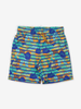 Tropical Print Kids Swim Shorts-Boy-1-12y-Blue
