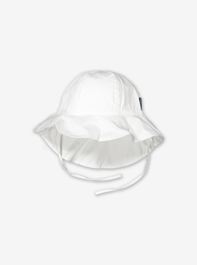 UV Kids Sun Hat-Unisex-1-9y-White