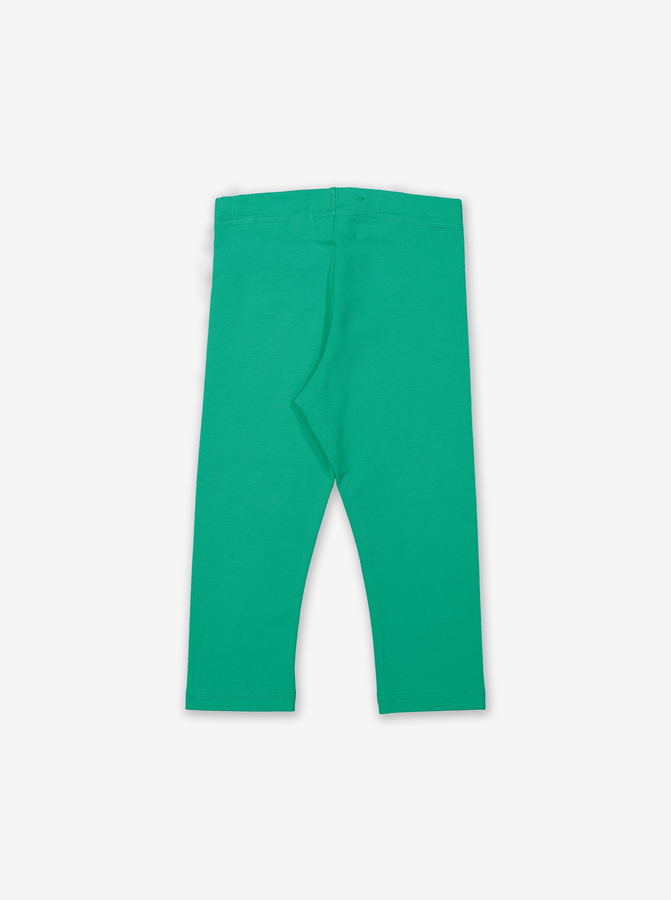 Organic Capri Kids Leggings-Girl-1-6y-Green