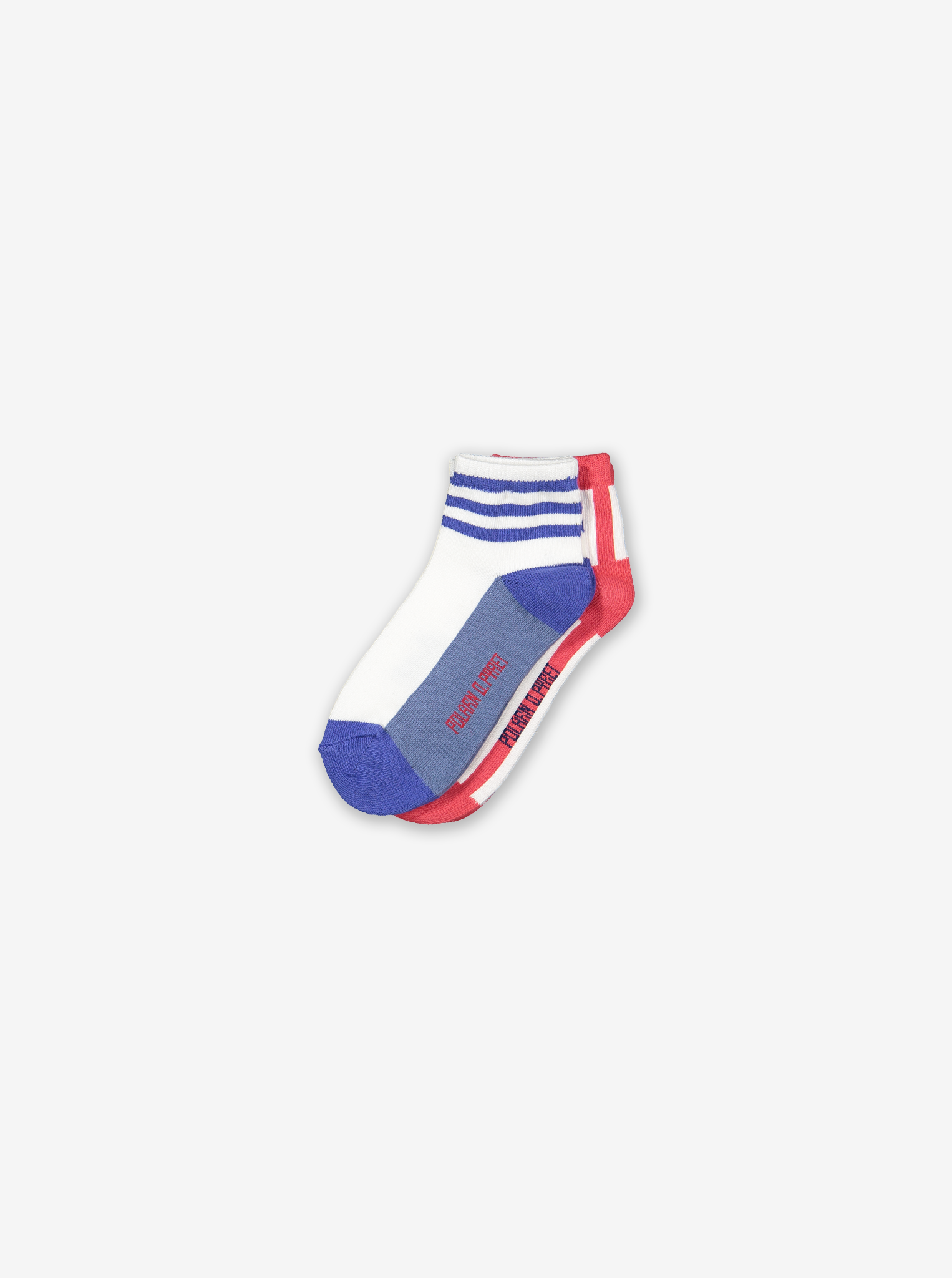 2 Pack Kids Ankle Socks-Boy-2-12y-Red
