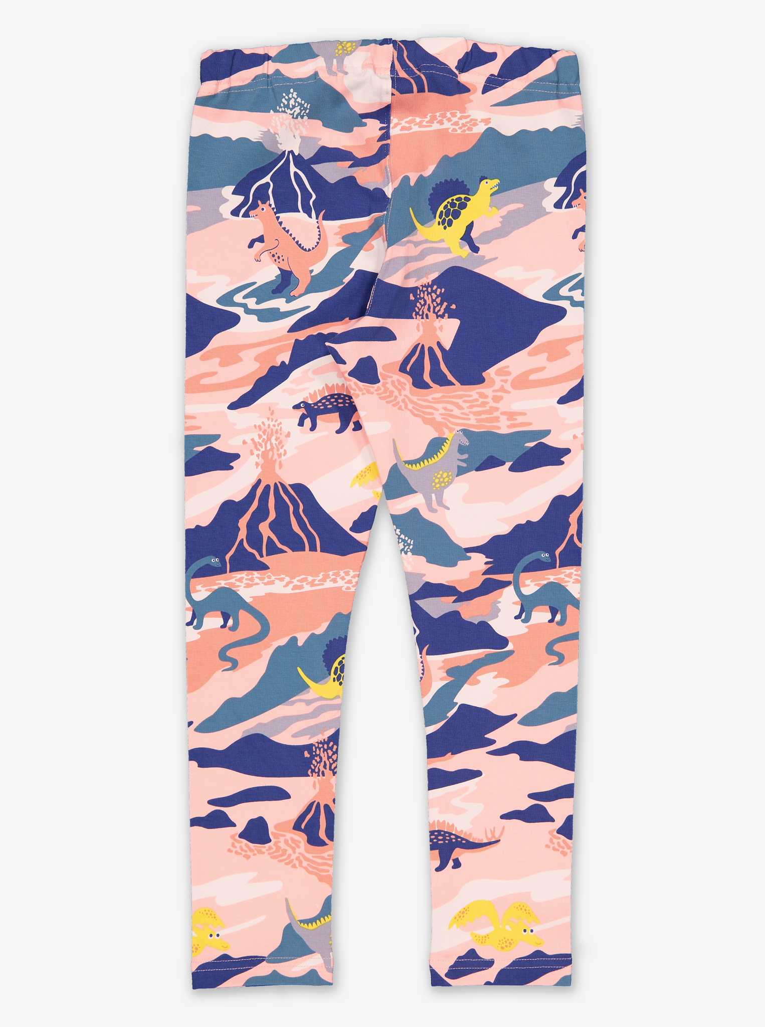 Kids Dinosaur Leggings-Girl-1-6y-Pink