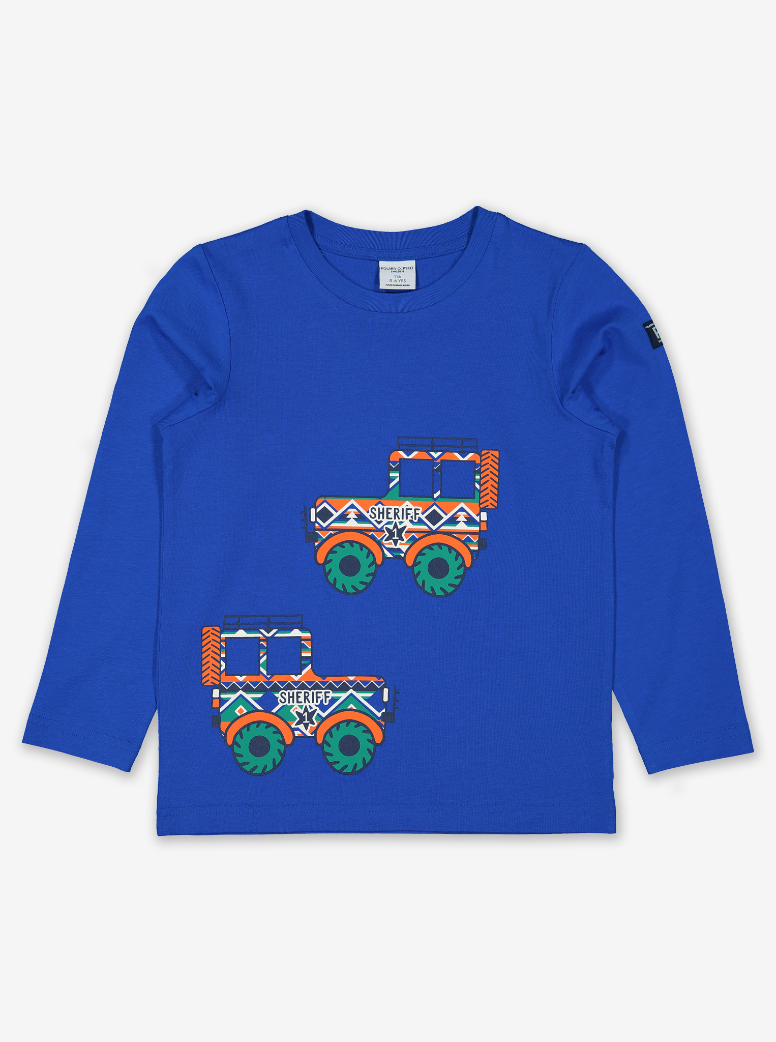 Sheriff's Truck Kids Top-Boy-1-8y-Blue