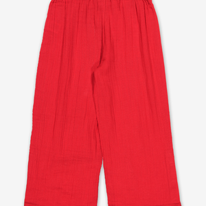 Cheese Cloth Kids Trousers-Girl-6-12y-Red