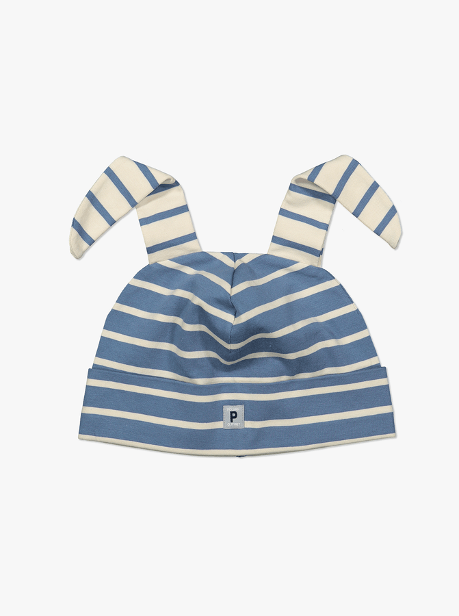 Striped Baby Hat-Unisex-1-24m-Blue