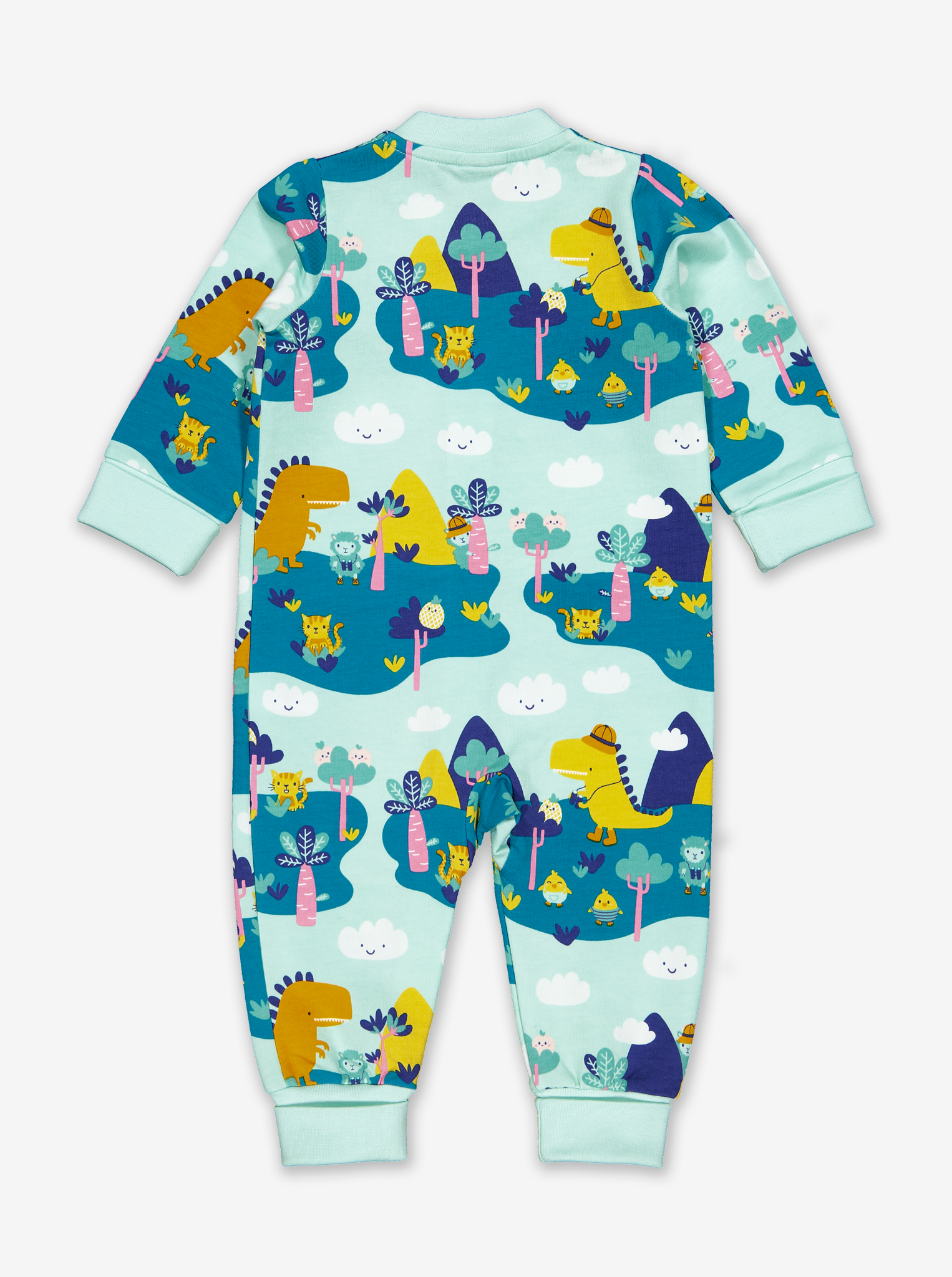 Dinosaur Safari Baby All-in-one-Unisex-0-1y-Turquoise