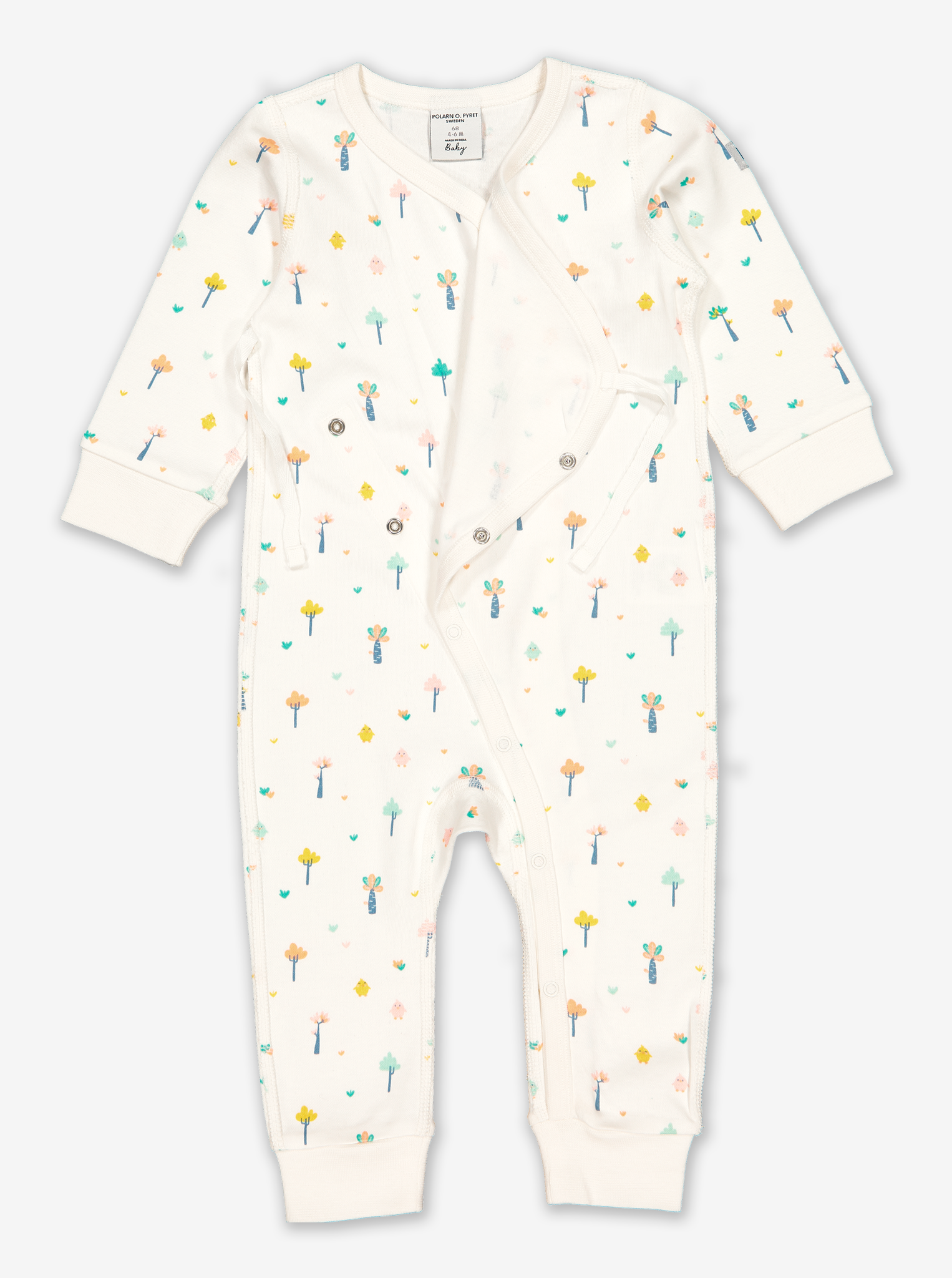 Little Tree Wraparound Baby Romper-Unisex-Preterm-6m-White