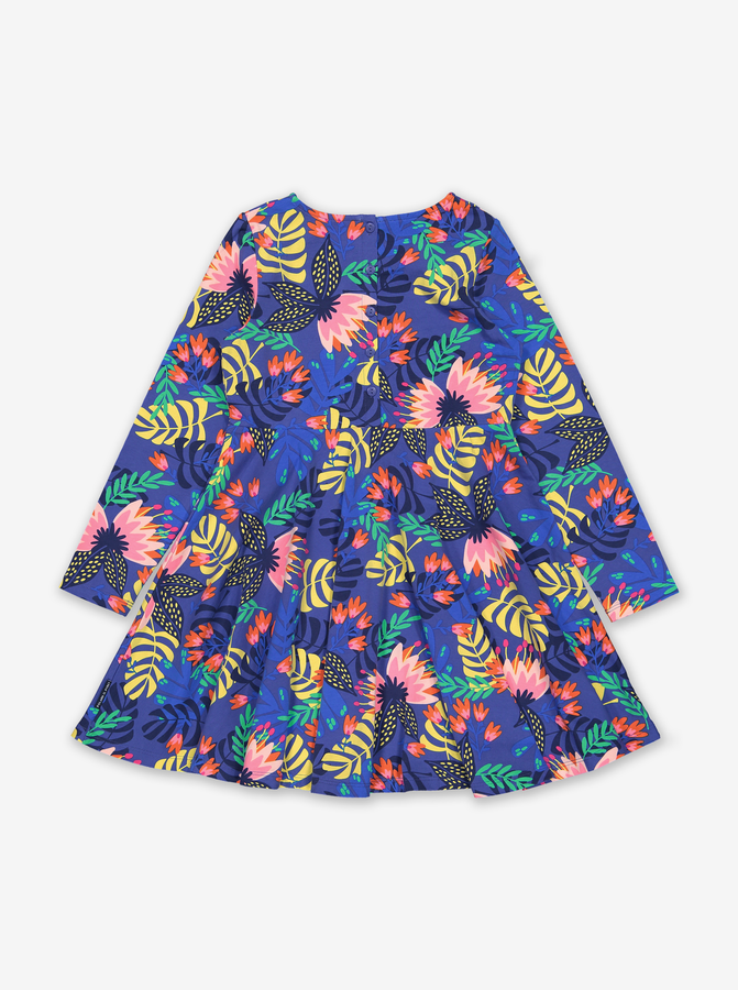 Tropical Print Kids Dress