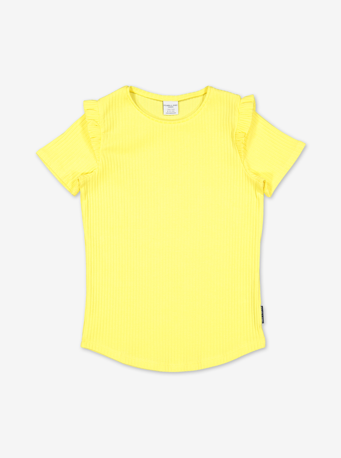Ribbed Kids Top-Girl-6-12y-Yellow