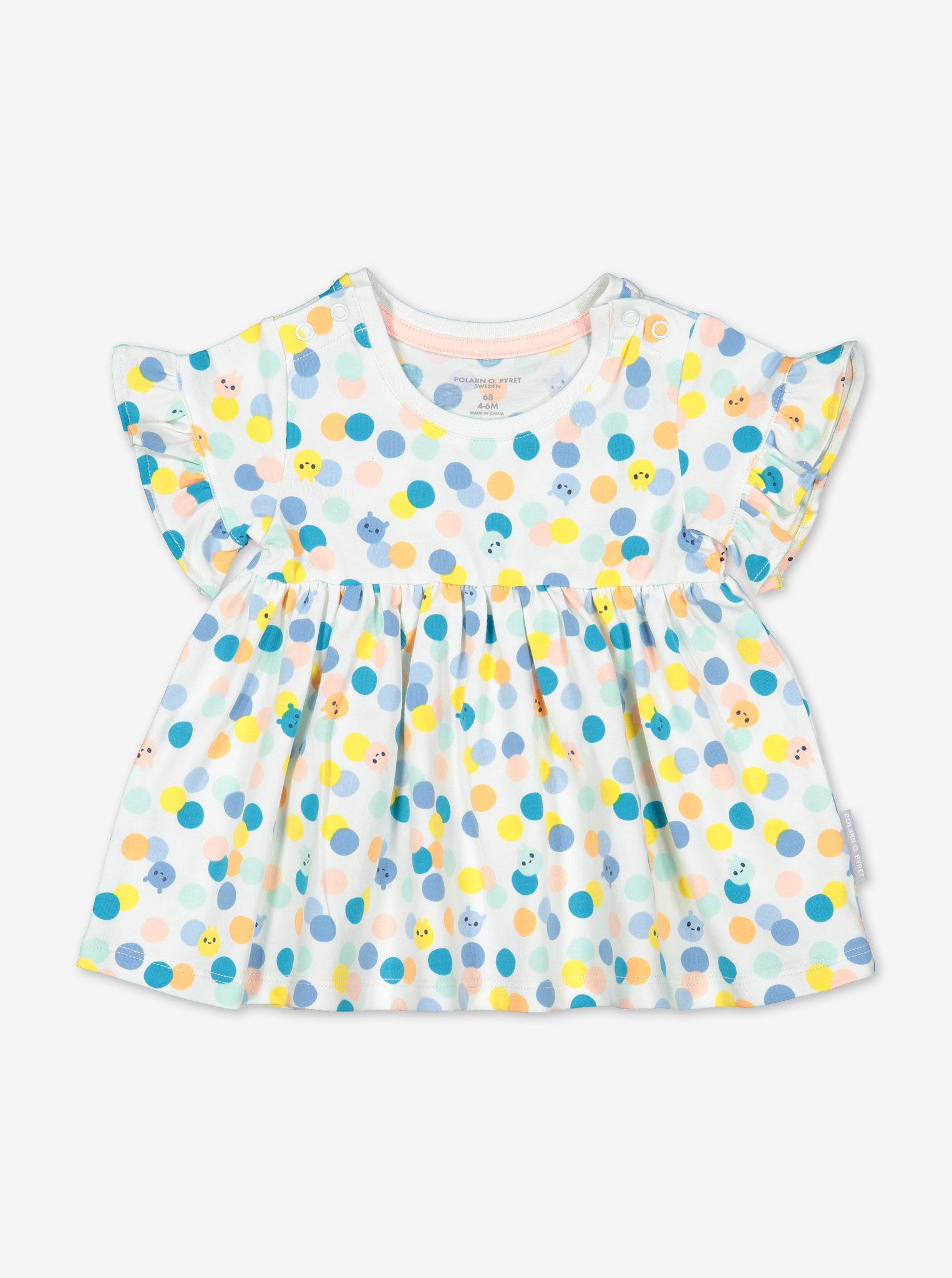 Polka Dot Baby Top-Girl-0-1y-White