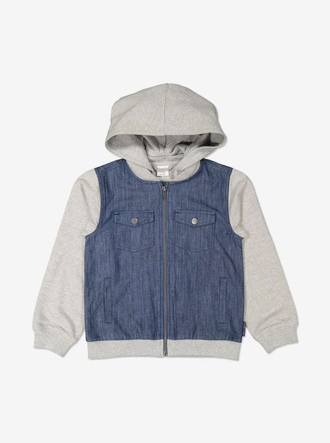 Unisex Blue Kids Denim Jacket