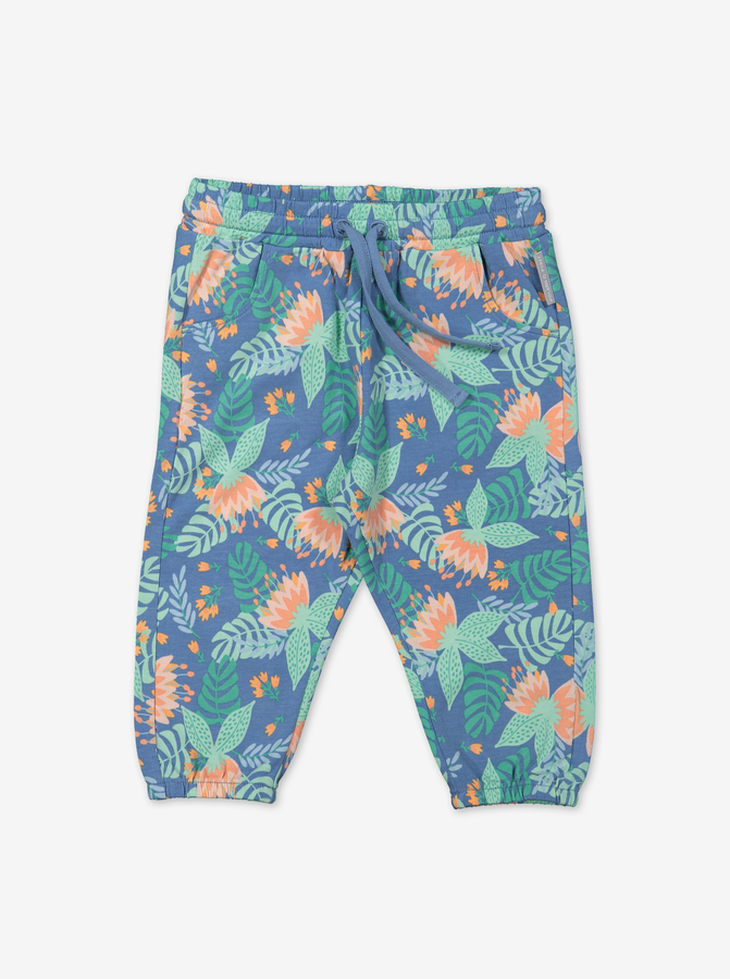 Tropical Baby Trousers-Girl-0-1y-Turquoise
