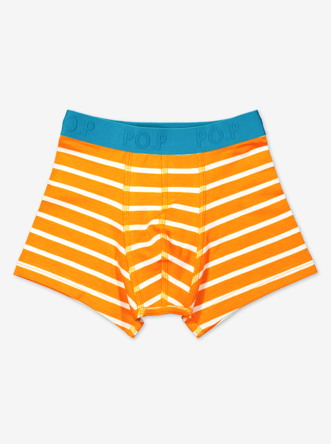 Striped Boys Boxers-Boy-1-12y-Orange