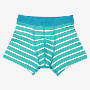 Striped Boys Boxers-Boy-1-12y-Turquoise