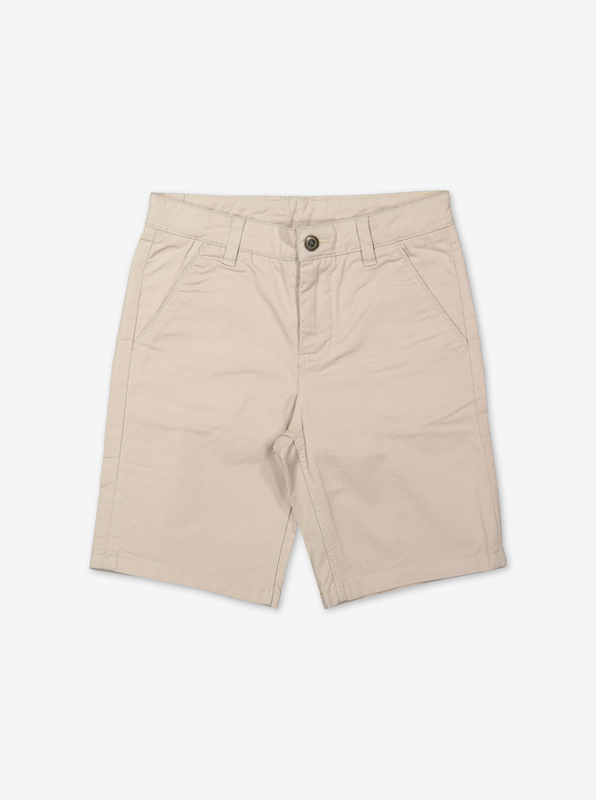 Kids Shorts-Boy-6-12y-Beige