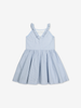 Striped Kids Dress-Girl-1-12y-White