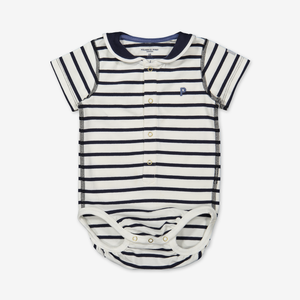 Stripe bodysuit for baby-Unisex-0-1y-White