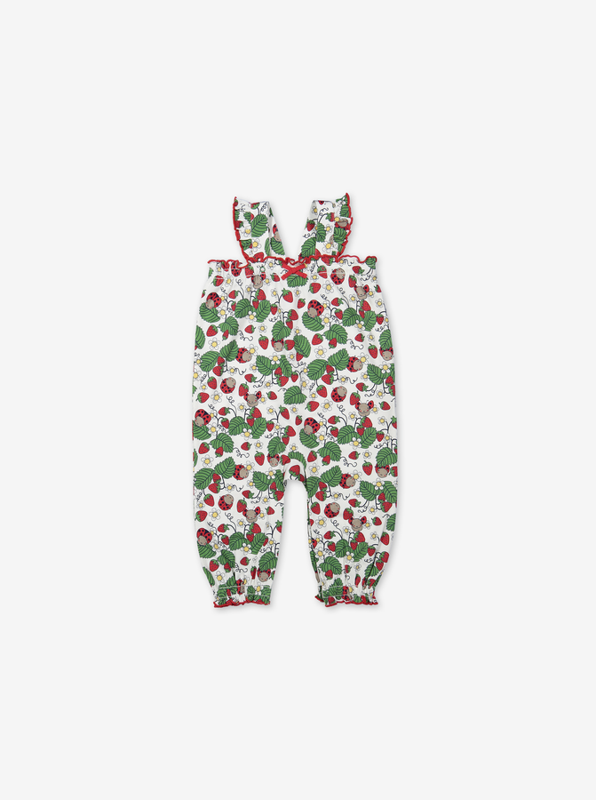 Summer Strawberry Baby Playsuit-Girl-0-1y-White