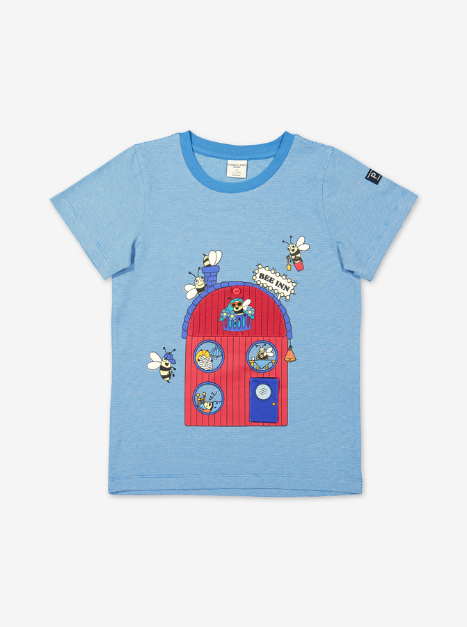 Bee Hotel Kids T-Shirt-Boy-1-6y-Turquoise