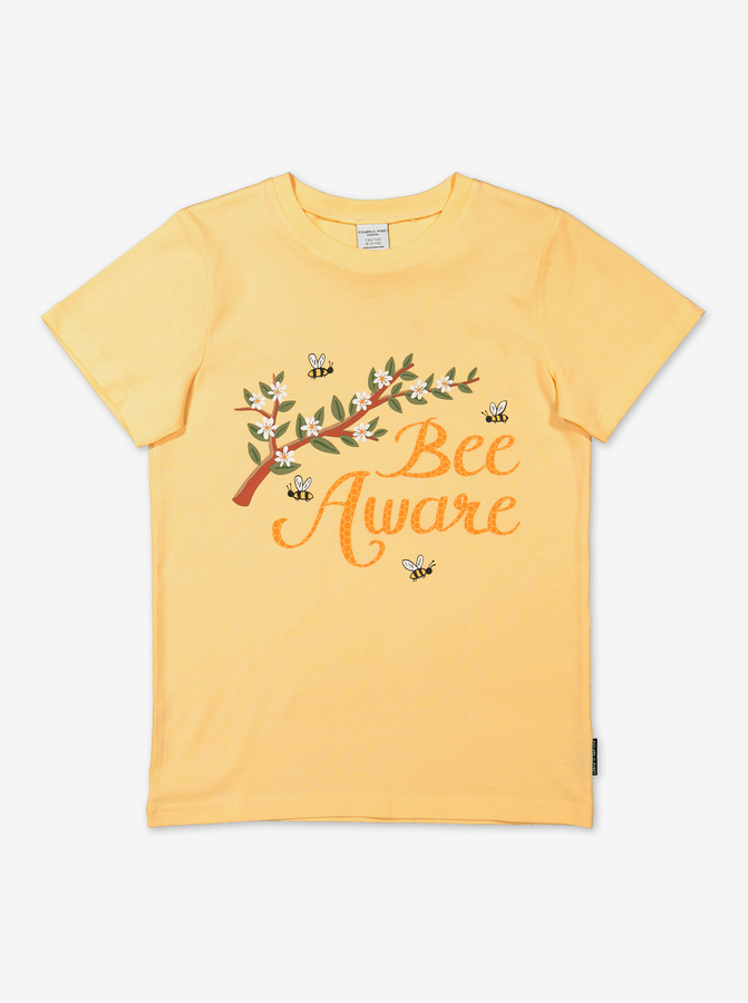 Organic Kids T-Shirt-Unisex-6-12y-Yellow